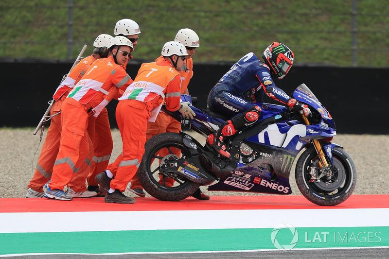 Maverick Viñales, Yamaha Factory Racing after crash