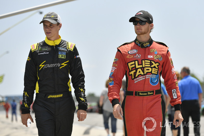 Joey Gase, Jimmy Means Racing Chevrolet, Harrison Rhodes, JD Motorsports Chevrolet