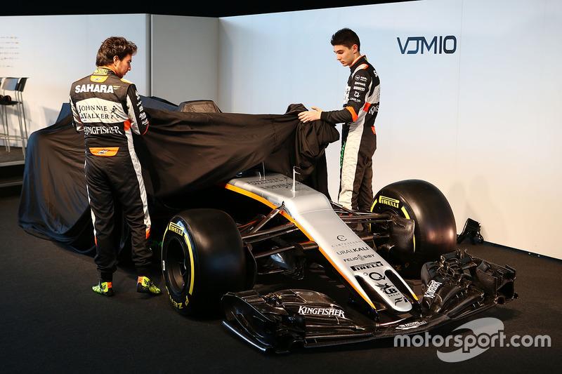 佩雷兹和奥康为印度力量 VJM10 赛车揭幕