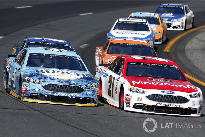 Ryan Blaney, Wood Brothers Racing Ford Kevin Harvick, Stewart-Haas Racing Ford