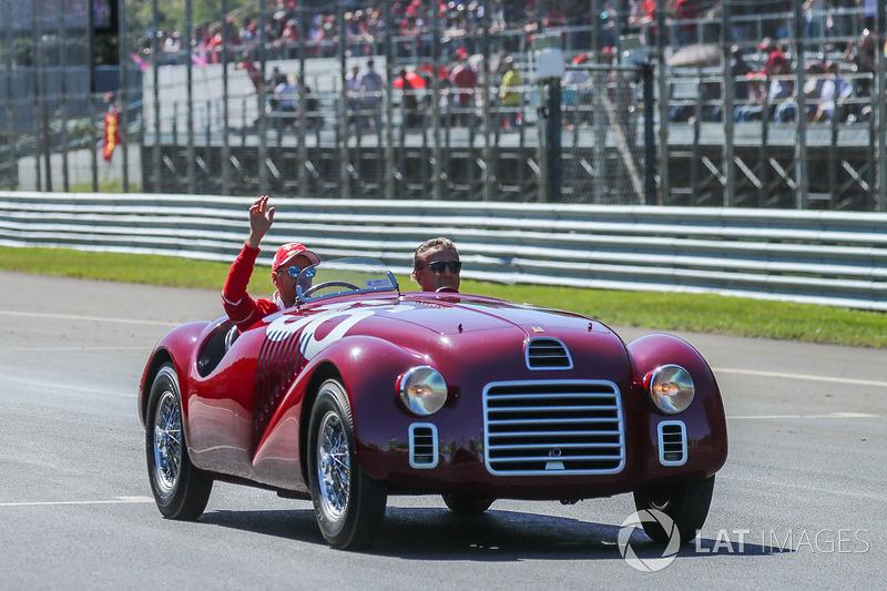 Sebastian Vettel, Ferrari on the drivers parade