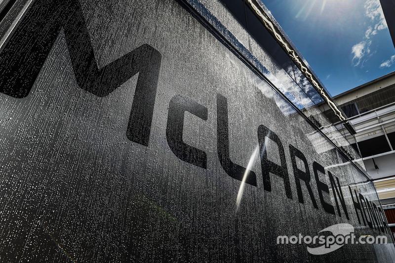 McLaren Honda logo on the team transporters