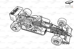 McLaren MP4-4 1988, panoramica dettagliata