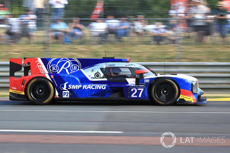 10. LMP2: #27 SMP Racing, Dallara P217 Gibson
