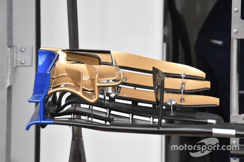Sauber C36, front wing detail