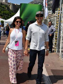 Pastor Maldonado, and wife Gabriella Tarkany,