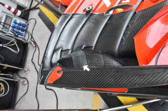 Ferrari SF71H front wing detail