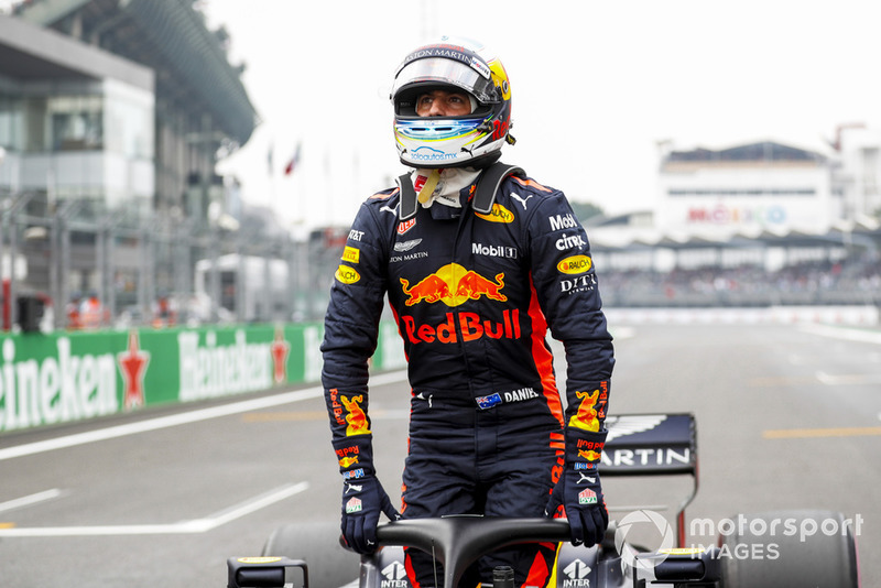 Ganador de la pole Daniel Ricciardo, Red Bull Racing
