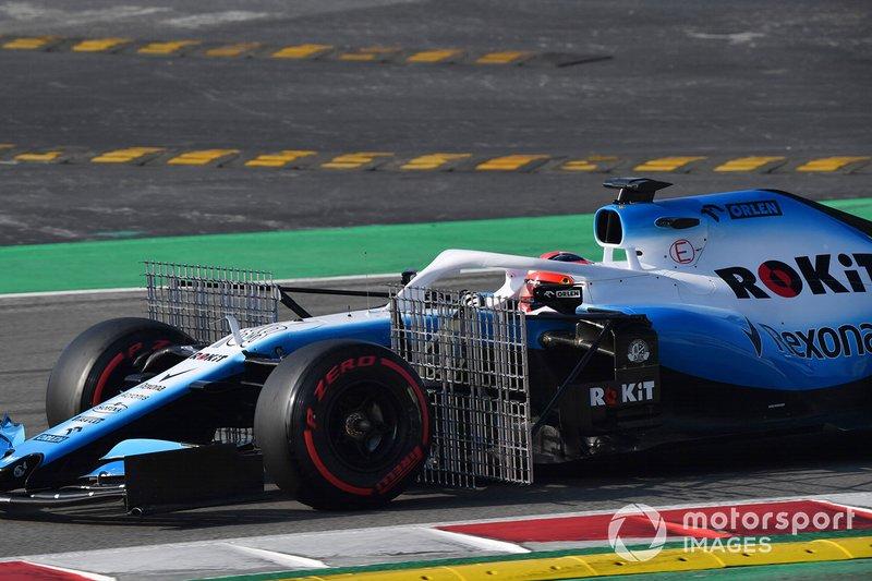 Robert Kubica, Williams FW42, con sensori aerodinamici