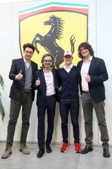 Mattia Binotto, Laurent Mekies, Marco Matassa, Mick Schumacher, Ferrari Driver Academy