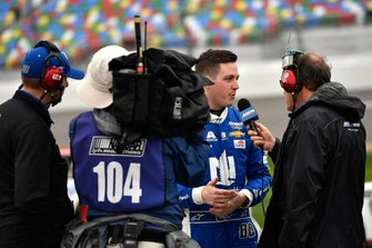 Alex Bowman, Hendrick Motorsports, Chevrolet Camaro Nationwide does an interview