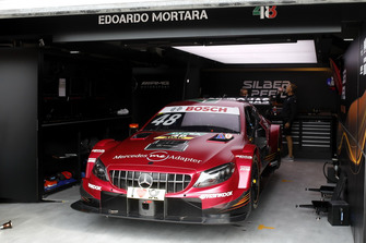 The car of Edoardo Mortara, Mercedes-AMG Team HWA, Mercedes-AMG C63 DTM