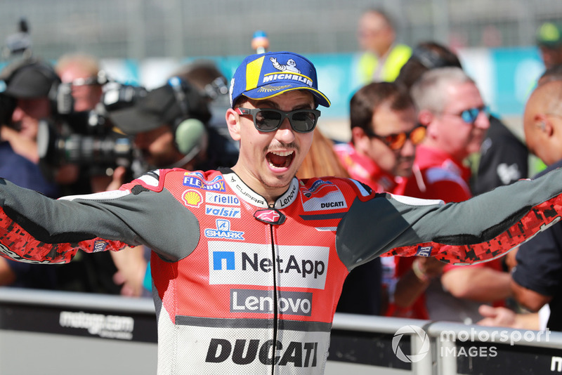 Il poleman Jorge Lorenzo, Ducati Team
