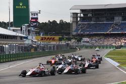 Charles Leclerc, ART Grand Prix leads Alexander Albon, ART Grand Prix