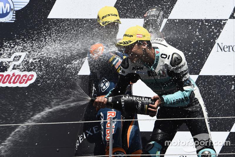 Podium: Joan Mir, Leopard Racing, KTM