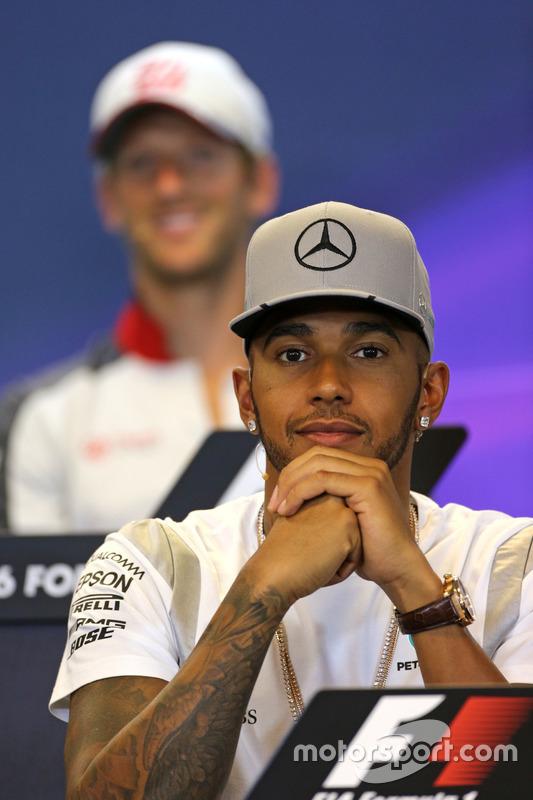 Lewis Hamilton, Mercedes AMG F1 Team nella Conferenza Stampa FIA