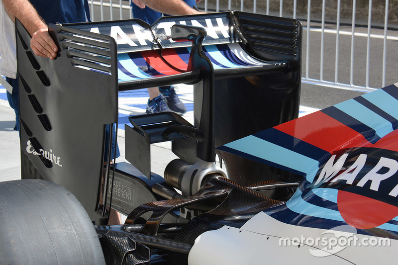 Williams FW38 rear wing detail