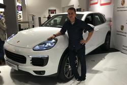 Jorge Lorenzo, en un acto con Porsche