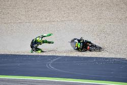 Pol Espargaro, Tech 3 Yamaha crasht