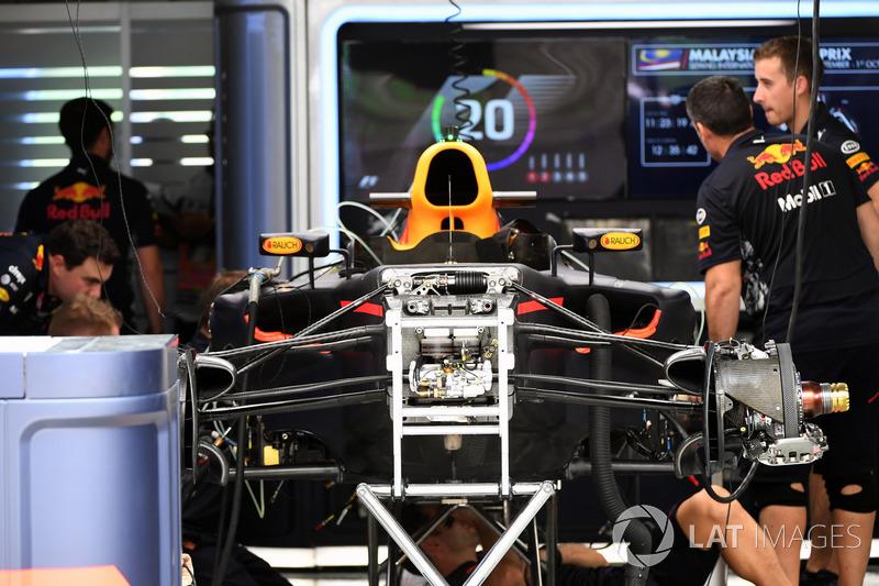 Suspensión delantera del Red Bull Racing RB13