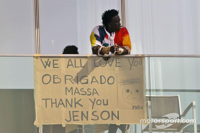 Un mensaje para Felipe Massa,  Williams y Jenson Button, McLaren de Señor Moko