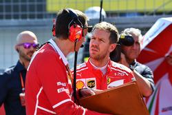 Sebastian Vettel, Ferrari et son ingénieur de course Riccardo Adami, Ferrari