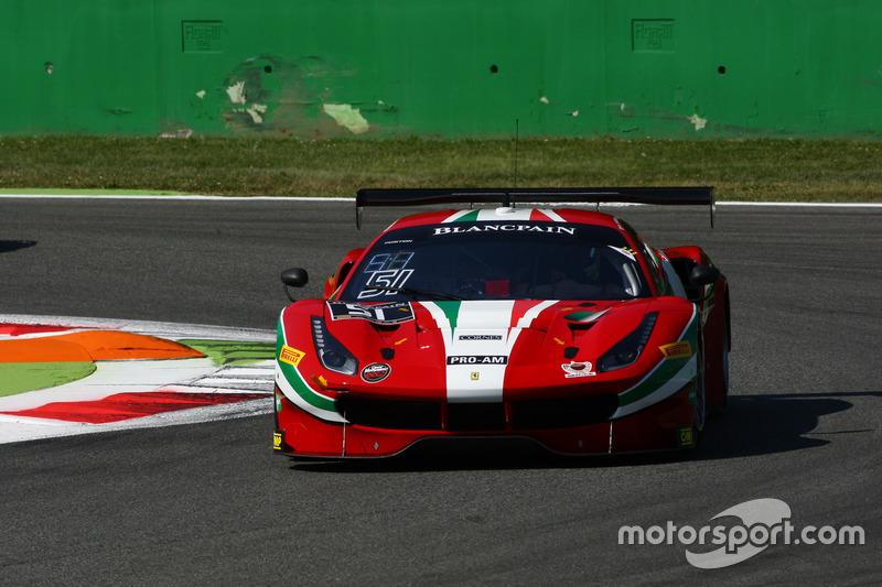 #51 AF Corse, Ferrari 488 GT3: Ishikawa Motoaki, Lorenzo Bontempelli, Olivier Beretta