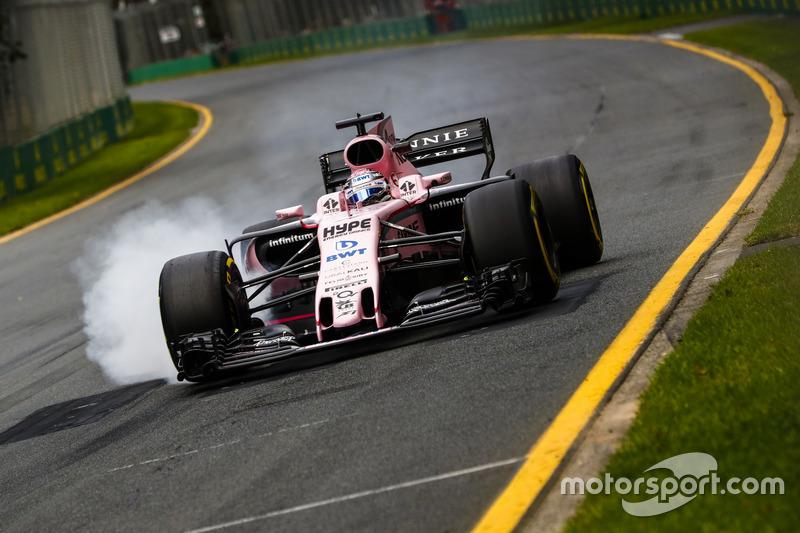 Серхіо Перес, Force India VJM10, блокує гальма