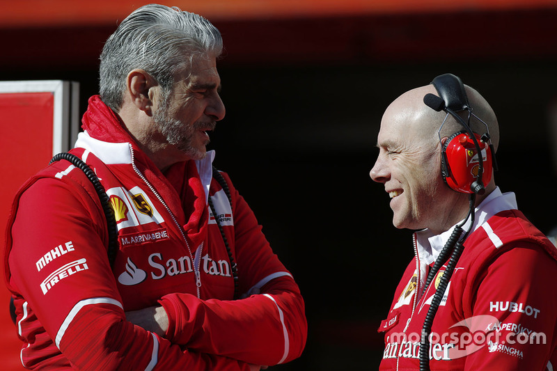 Maurizio Arrivabene, Ferrari Team Principal and Jock Clear, Ferrari Engineering Director
