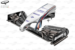 Williams FW36 front wing and nose