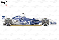 Williams FW26 side view