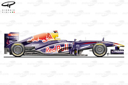 Red Bull RB7 side view, Italian GP