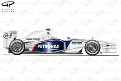 BMW Sauber F1.09 2009 side view