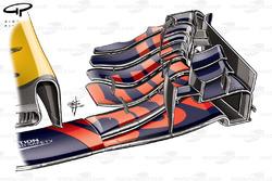 Red Bull RB13 ala delantera, coche de Ricciardo, GP de Bélgica