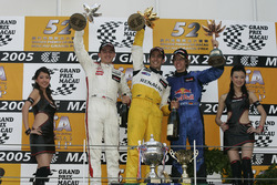 Podium: Race winner Lucas di Grassi, Manor Motorsport; second place Robert Kubica, Carlin; third place Sebastian Vettel, ASM F3