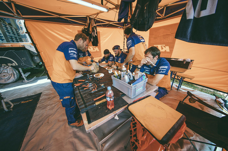 Red Bull KTM Factory Racing team area