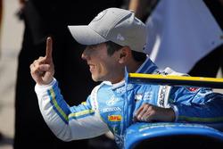 Le poleman Takuma Sato, Andretti Autosport Honda
