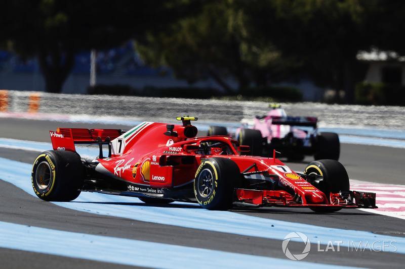 Kimi Raikkonen, Ferrari SF71H, testacoda