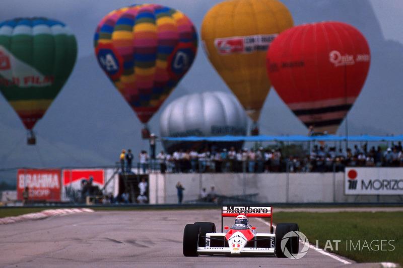 Прост начал чемпионат с победы в Рио, Сенна впервые выиграл с McLaren в Имоле. Там же отношения между напарниками испортились – их конфликт будет развиваться по нарастающей два следующих года и в итоге вынудит Алена уйти из команды.