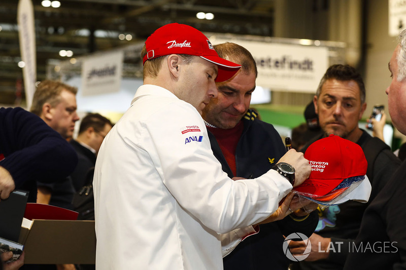 Jari-Matti Latvala, Toyota Racing signs autographs