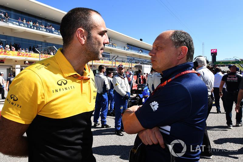 Cyril Abiteboul, Renault Sport F1 y Frederic Vasseur, Sauber