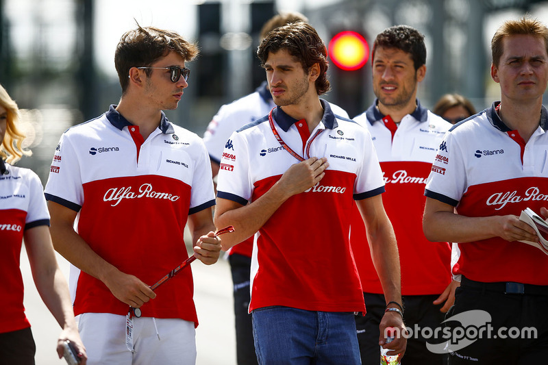 Charles Leclerc, Sauber, Antonio Giovinazzi, Sauber
