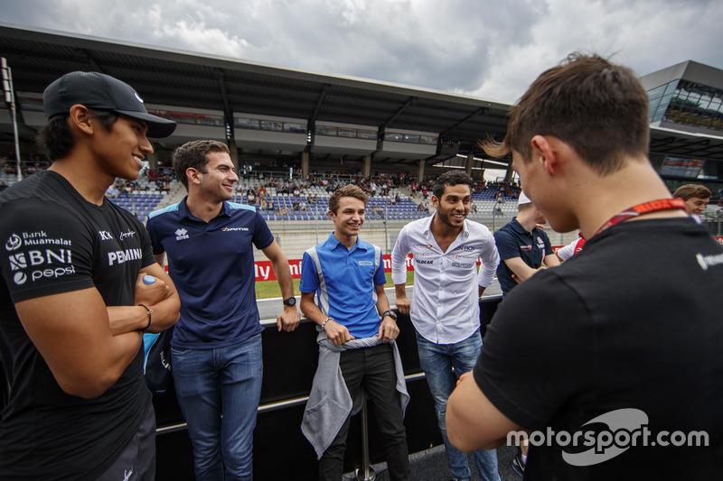 Sean Gelael, PREMA Racing, Nicholas Latifi, DAMS, Lando Norris, Carlin, Roy Nissany, Campos Racing