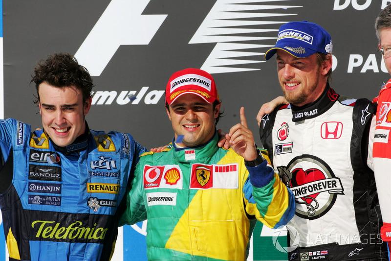 2006 : 1. Felipe Massa, 2. Fernando Alonso, 3. Jenson Button