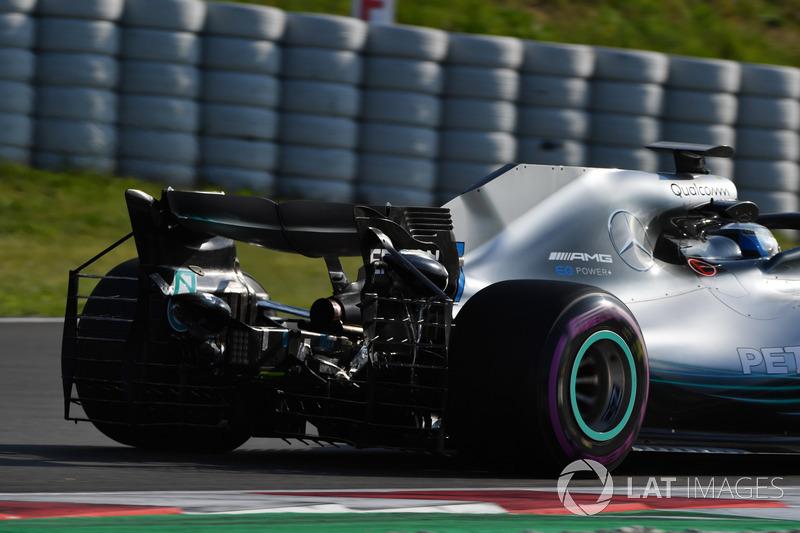 Valtteri Bottas, Mercedes-AMG F1 W09 avec des capteurs aéro