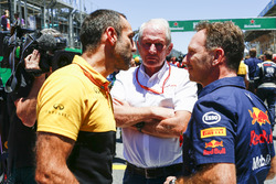 Cyril Abiteboul, Direktör, Renault Sport F1 Team, Helmut Markko, Danışman, Red Bull Racing, Christian Horner, Takım Patronu, Red Bull Racing