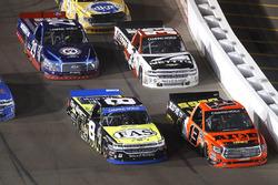 John Hunter Nemechek, SWM-NEMCO Motorsports Chevrolet, Cody Coughlin, ThorSport Racing Toyota