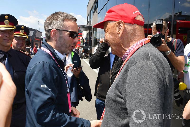 Niki Lauda, Mercedes AMG F1 Non-Executive Chairman and Herbert Kickl, Austrian Interior Minister
