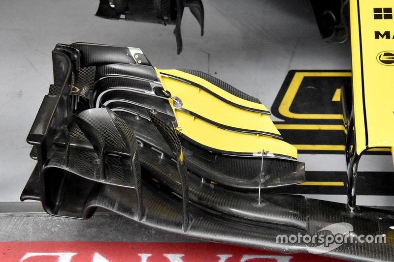 Detalle del ala frontal de Carlos Sainz Jr., Renault Sport F1 Team R.S. 18
