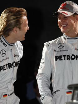 Nico Rosberg, Mercedes GP y Michael Schumacher, Mercedes GP